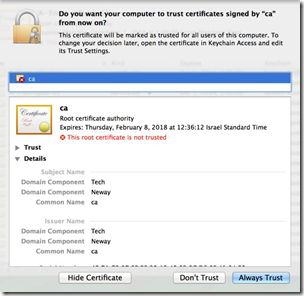 How to install a root CA certificate on a MAC client – Guy