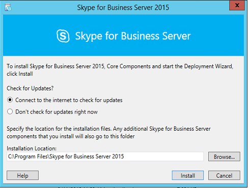 Lync Server 2013 Standard to Skype for Business Server 2015